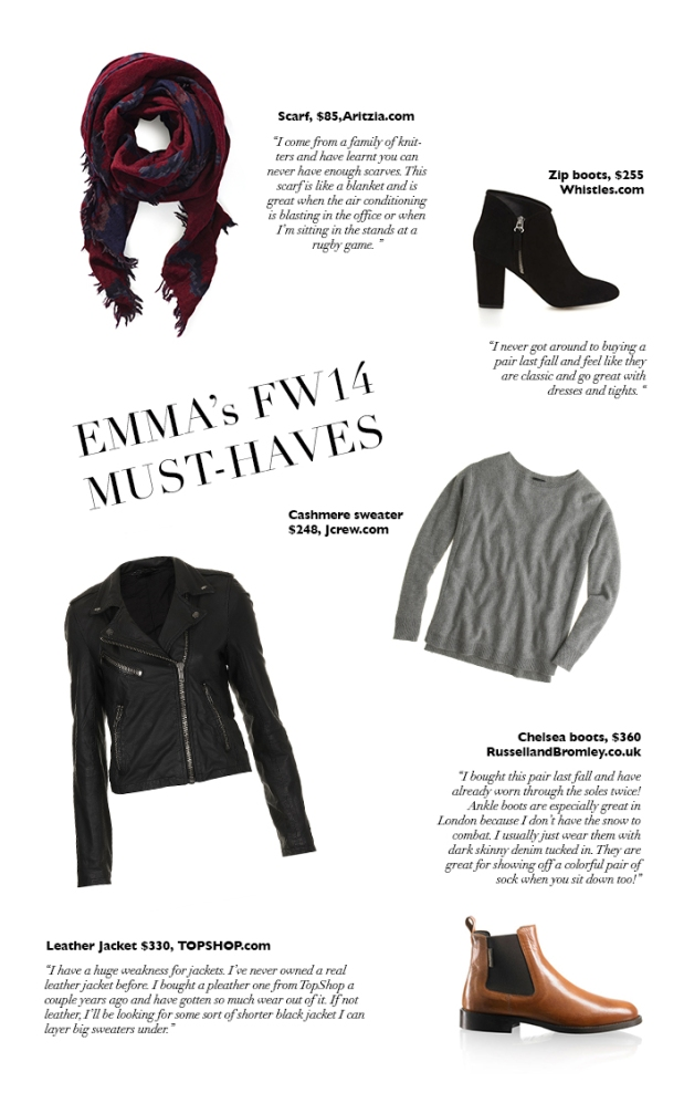 personal style interview | fall winter 2014 must-haves | notesfromthebackrow.com